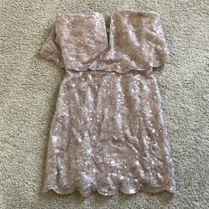 BCBGMAXAZRIA lavender sequin dress